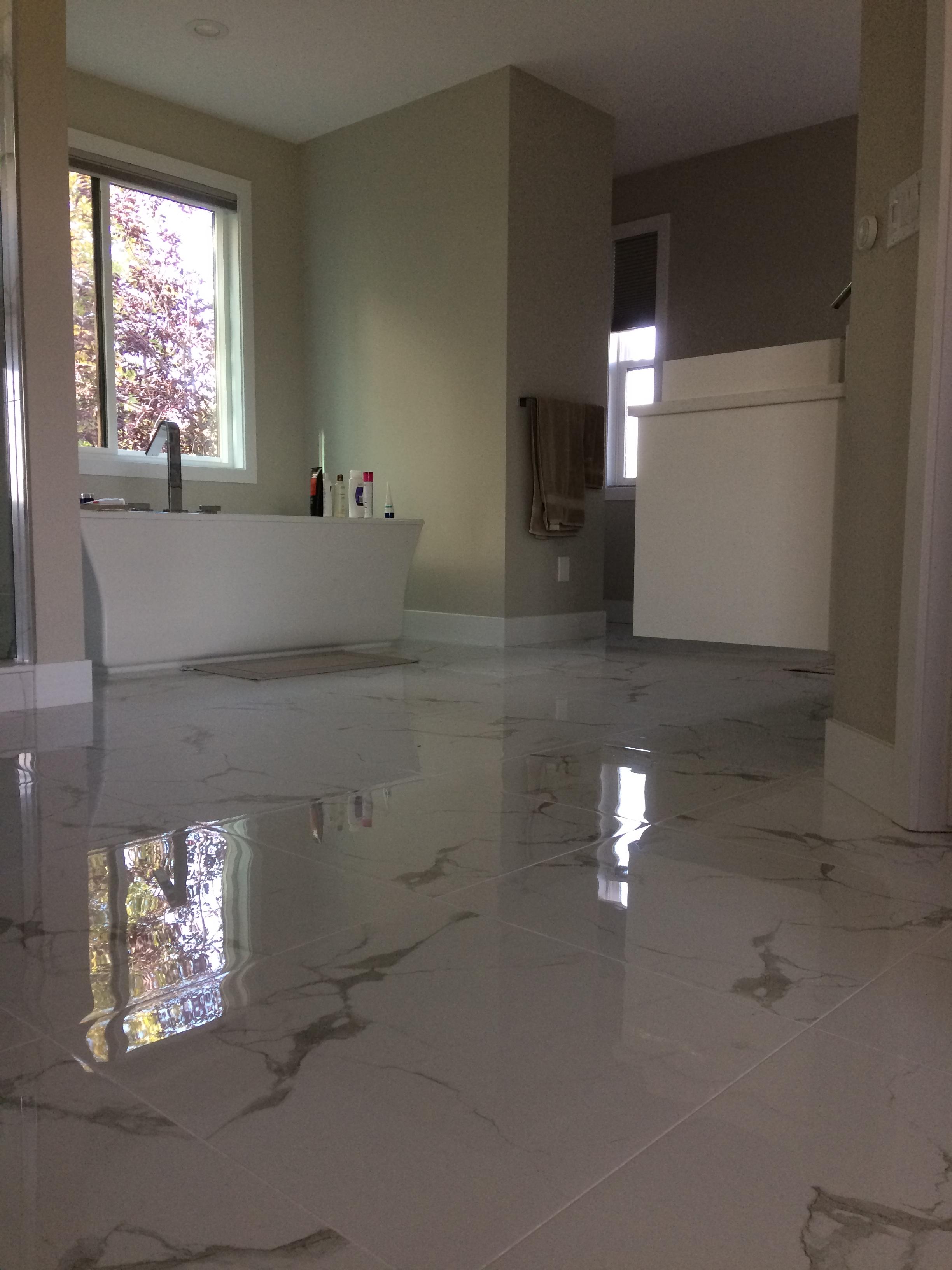 Gorgeous marble style flooring