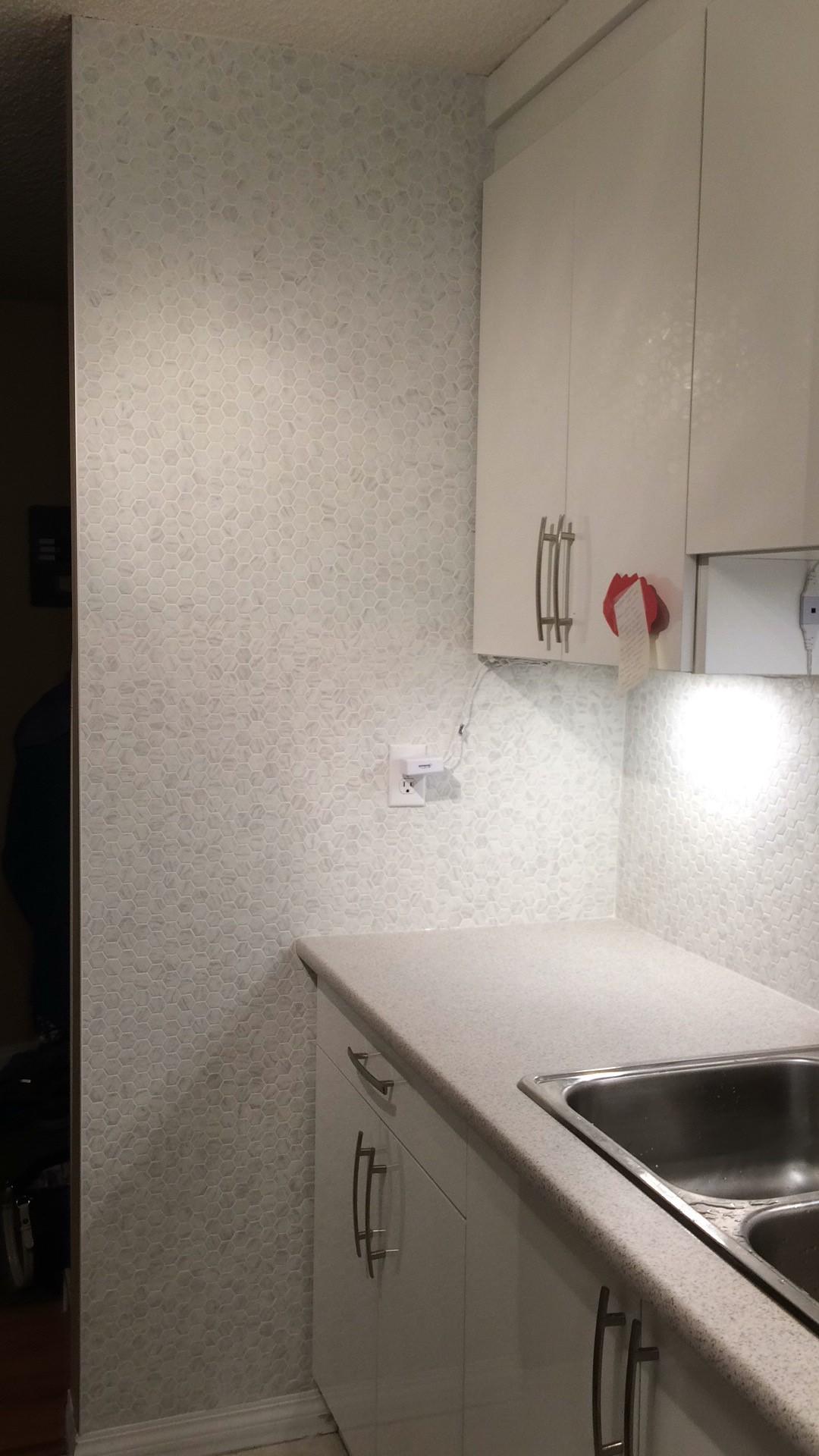 Kitchen splash replacement (after)