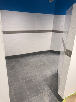 Commercial tile job. Amazon warehouse in South Surrey