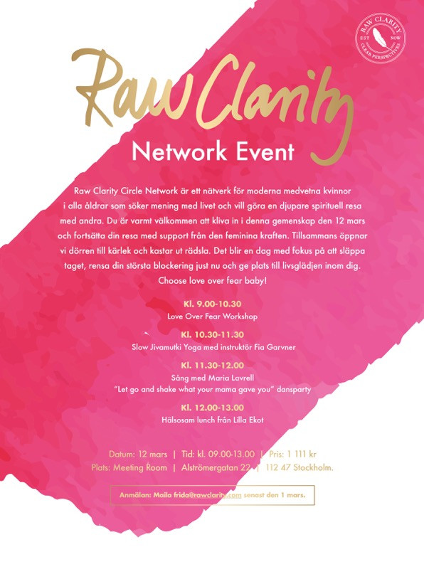 Raw Clarity Circle Network Event