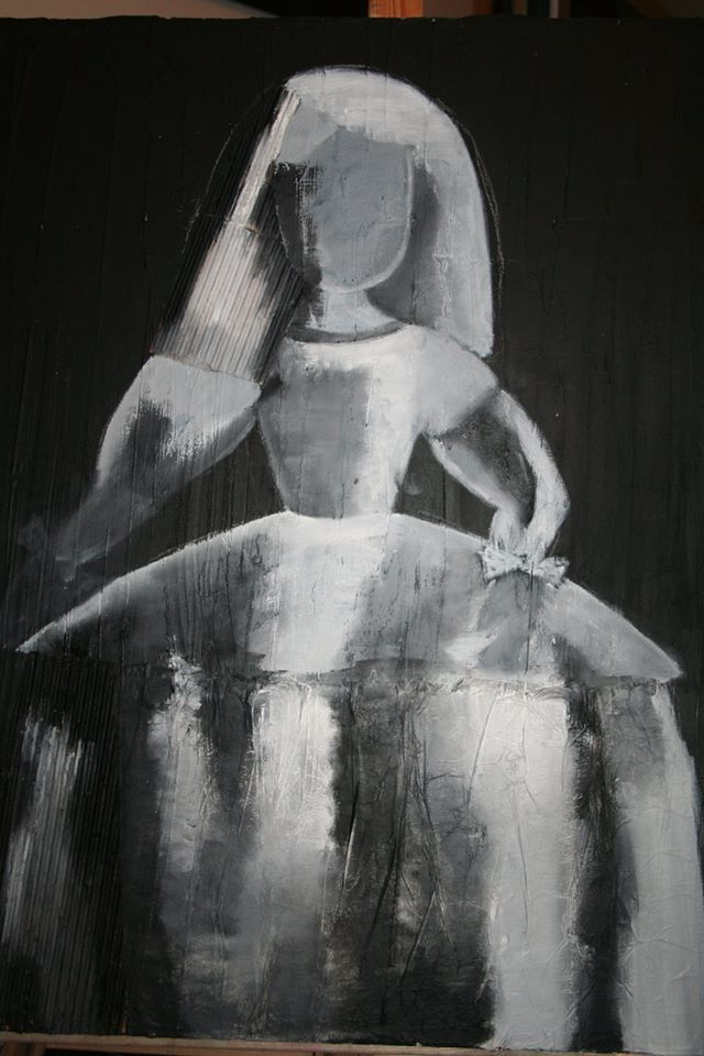 Menina en negro