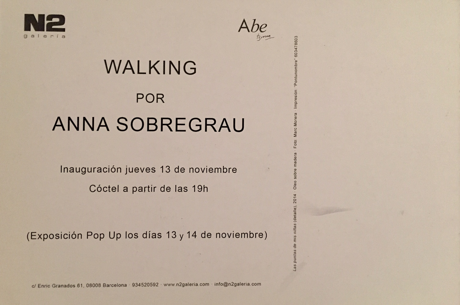 Walking invitacion