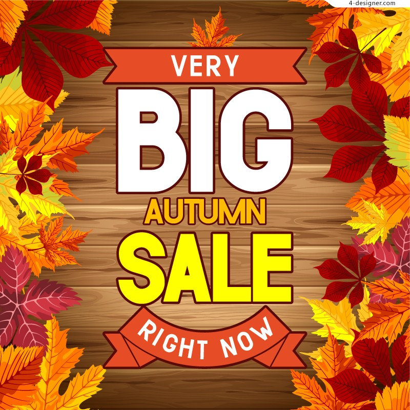 Vector-material-of-fall-promotion-poster