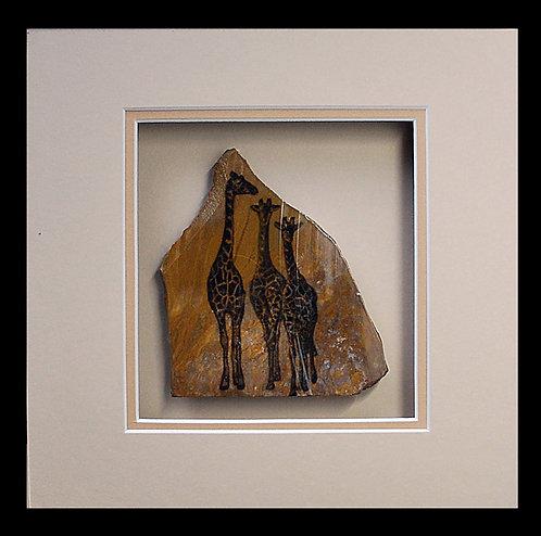 Three Giraffes  8x8