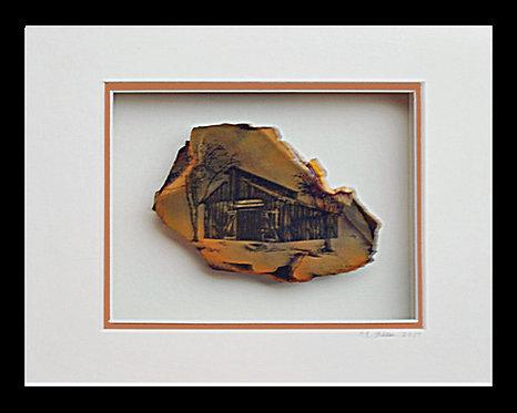 Barn on Gold, Historic Columbia, 8x10 Photogem