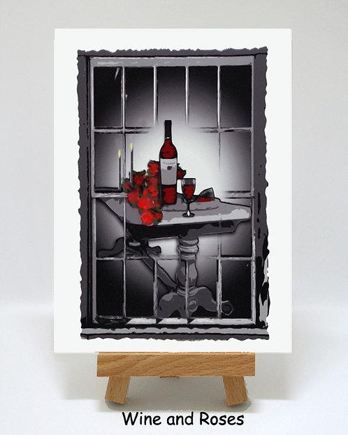 Wine & Roses PhotoCard