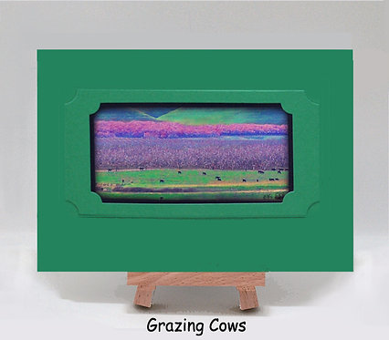 Grazing Cows PhotoCard