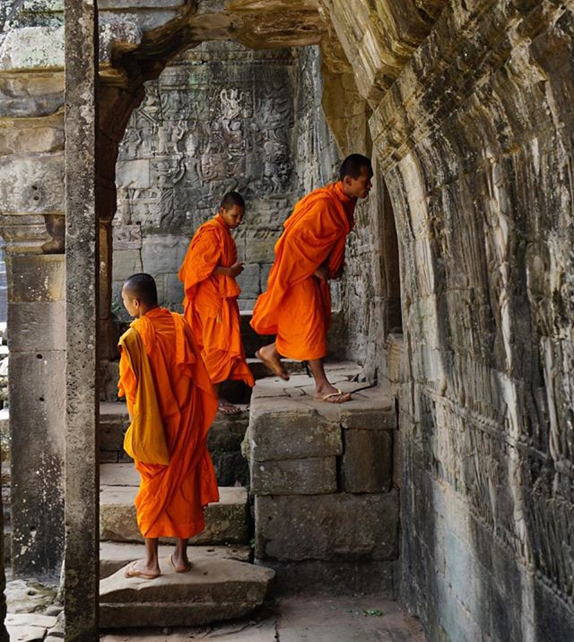 Monks, Siem Reap, Cambodia