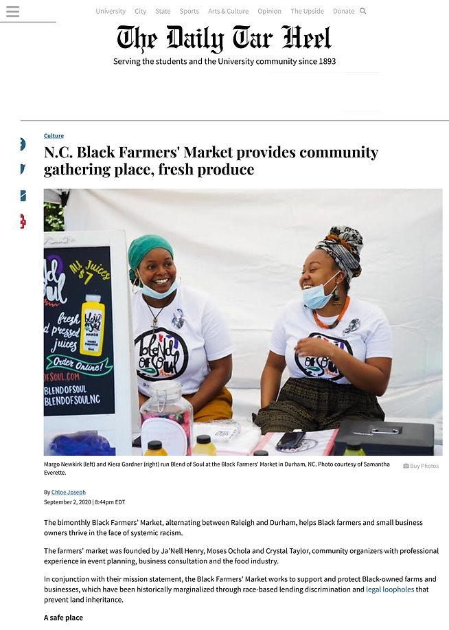 N.C. Black Farmers' Market provides comm
