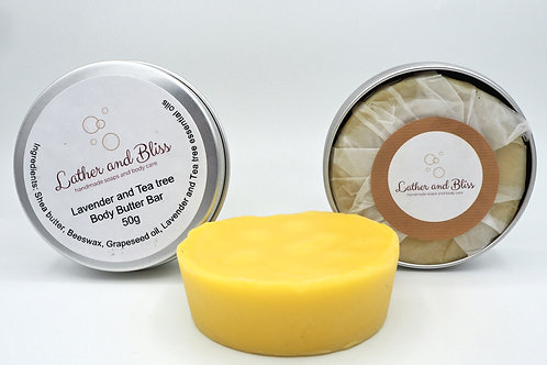 Lavender and Tea Tree Body Butter Bar