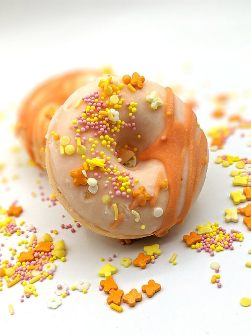 Orange Sherbet Bath Bomb Donut