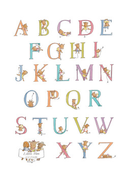 Little Moo A3 Alphabet Print