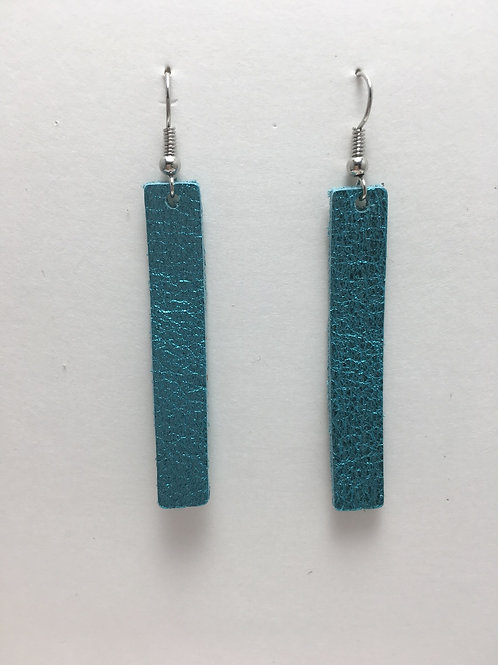 Shimmery Sea Foam Leather Rectangles