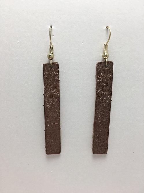 Shimmery Brunette Leather Rectangles