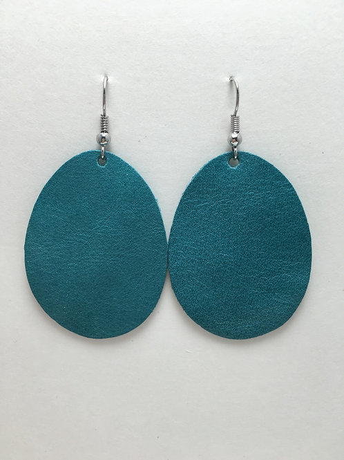 Sea Green Leather Ovals