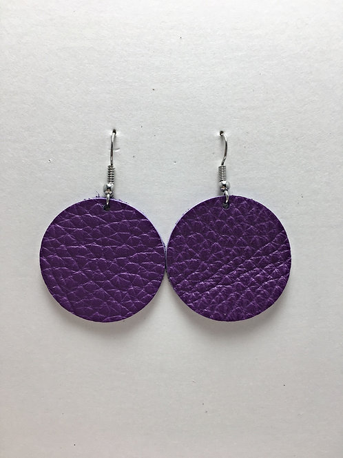 Violet Leather Circles