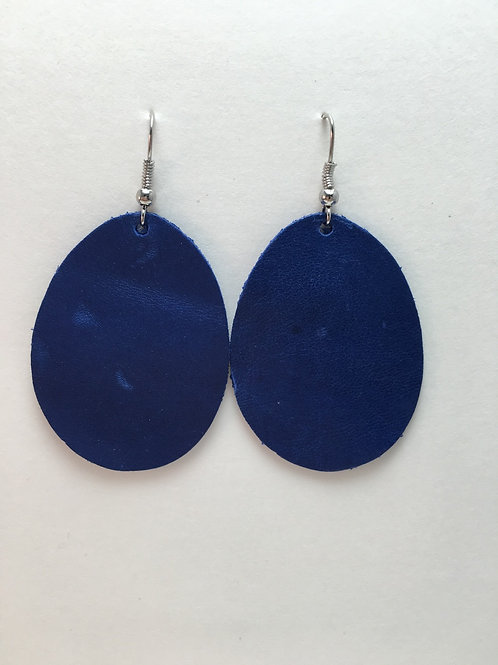 Royal Blue Leather Ovals