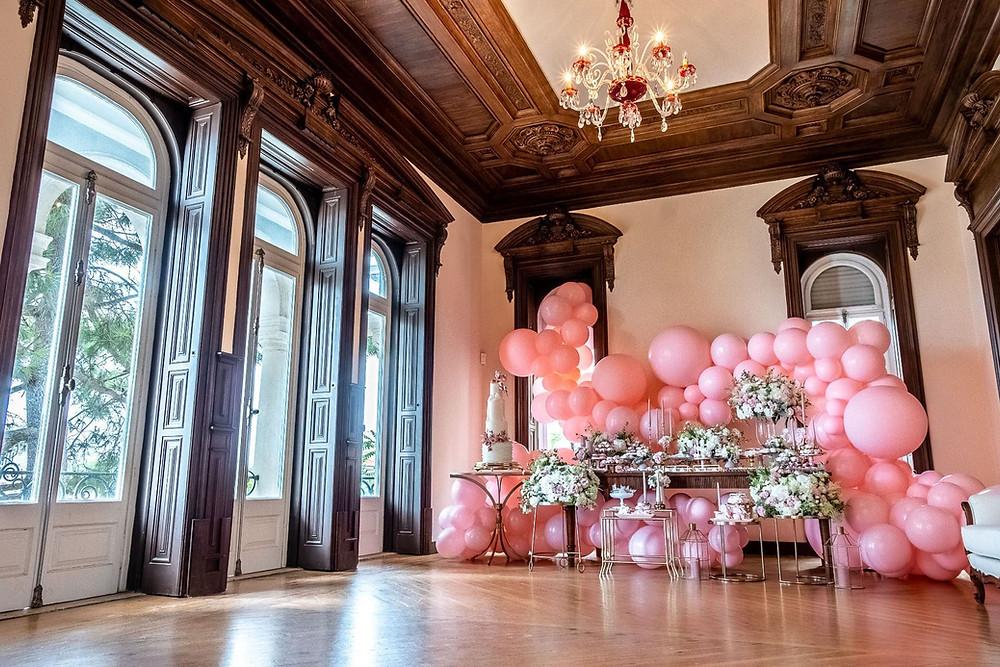 Balões Rosa Oficina de Festa Lisboa em Portugal