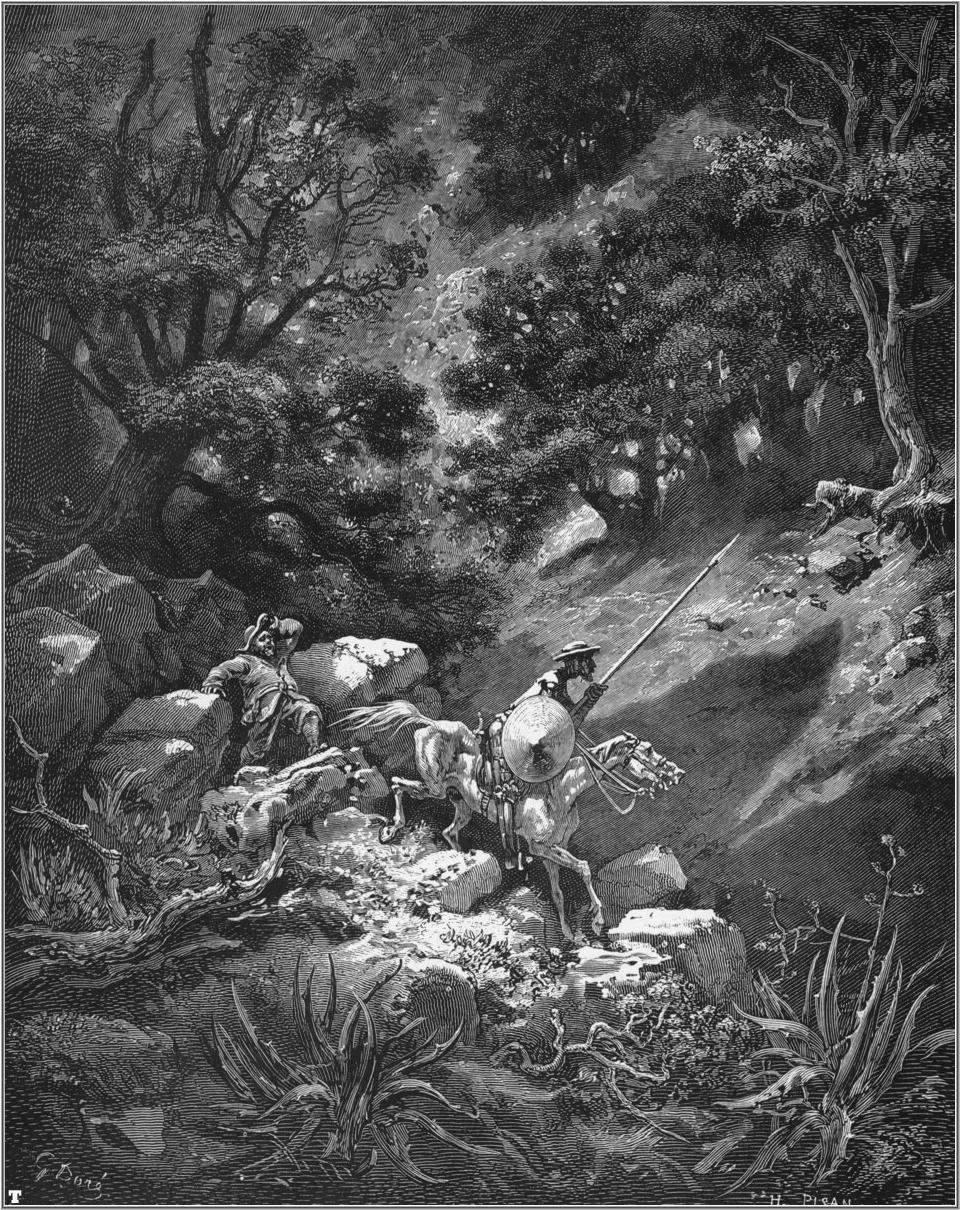 Ilustração de Gustave Doré (1832 - 1883) para Dom Quixote