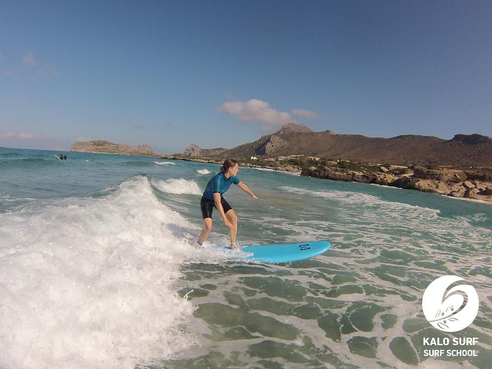 surfing Falassarna, surf lesson Crete