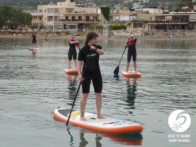 Excursion on a SUP in Kissamos Bay
