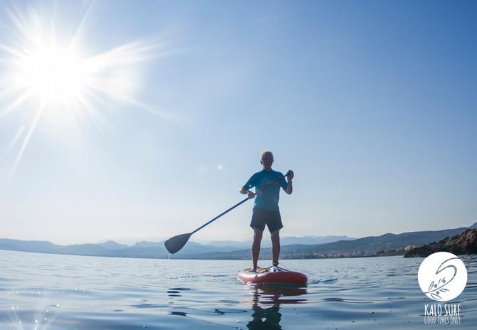 Stand Up Paddling on Crete