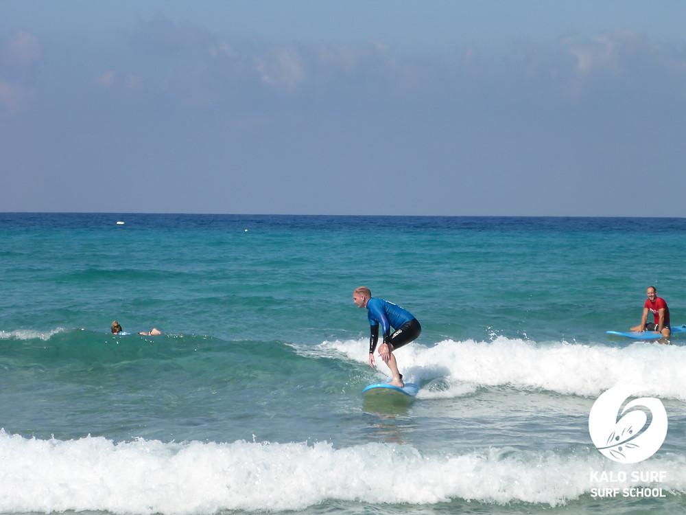 Wellenreiten Kreta, Kurven fahren