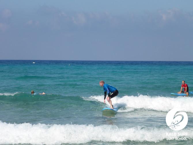 Kurven surfen - Wellenreiten in Falassarna
