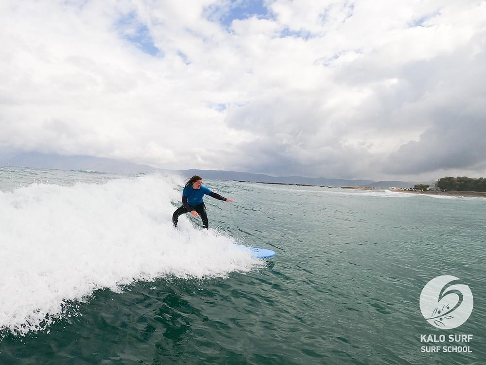 Surfing, Surf course, Greece, Crete