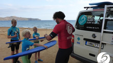 Fun Day in Crete with Family surf lessons