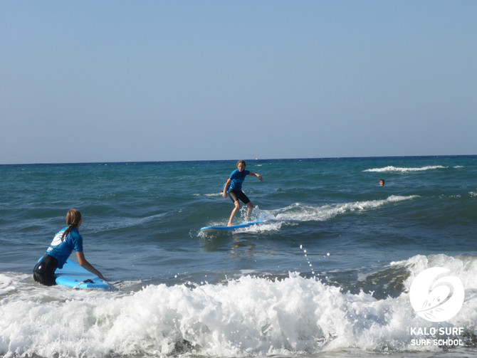 Surf lesson in Kissamos in August