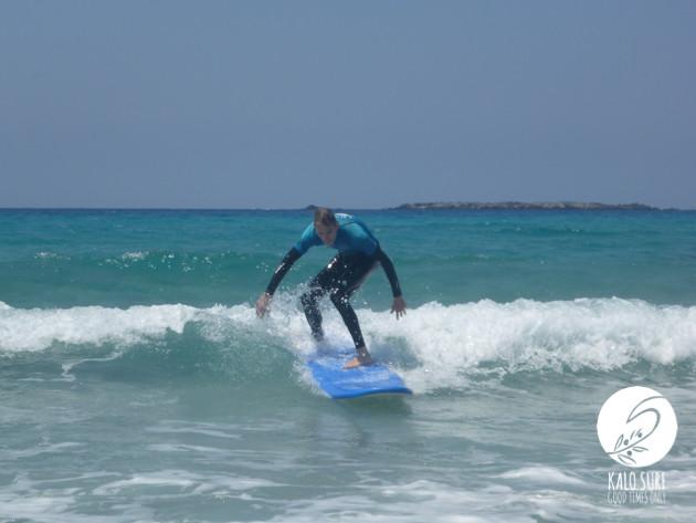 Surfing in May in Falassarna