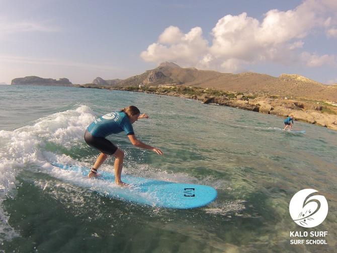 Super high wave count heute beim Wellenreiten in Falassarna