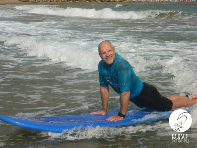 Surfing at the North Coast of Crete