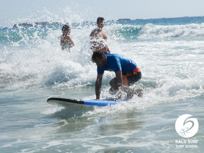 Super Gaudi beim Familien-Surfkurs in Falassarna