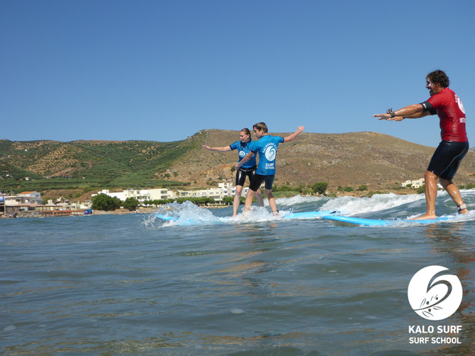 Summer vacation - surf lessons in Kissamos