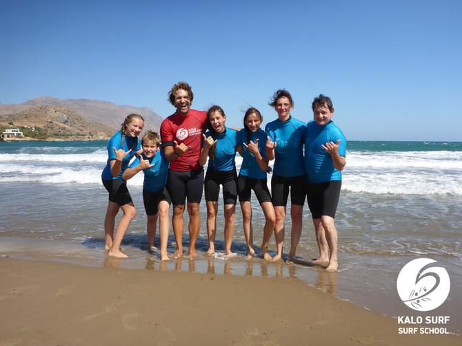 Surfergruß, Shaka!, heute morgen beim Wellenreitkurs