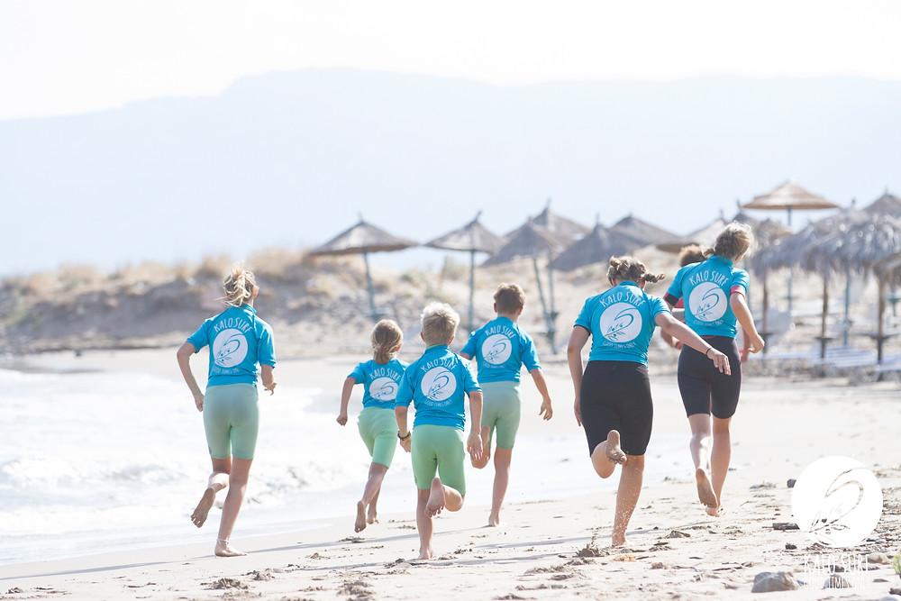 running, beach, surf class, run, ocean