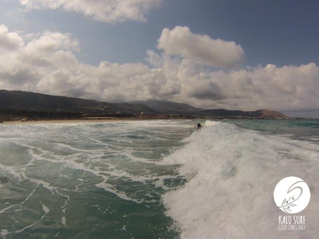big waves in Falassarna