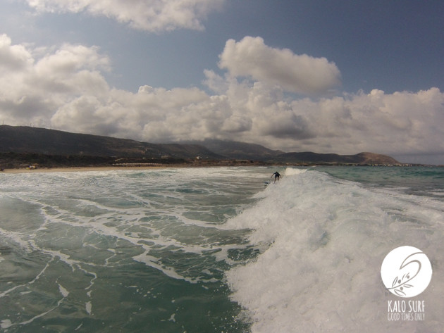 Surf Skate & Big Waves in Falassarna