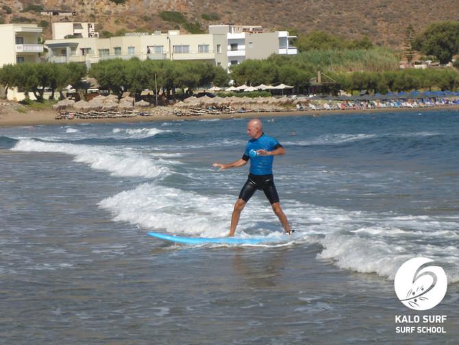 Wellenreitkurs im August in Griechenland
