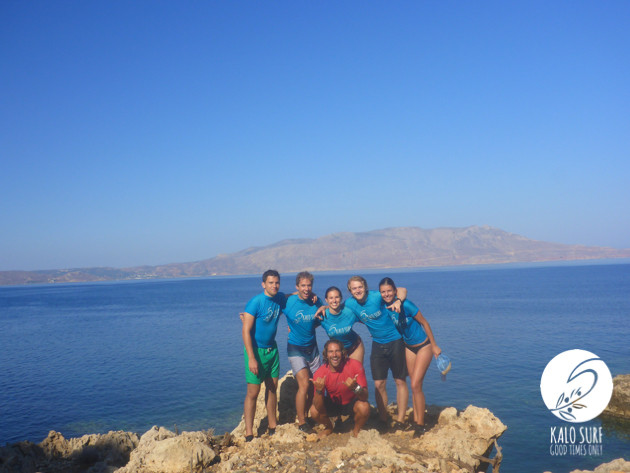 group picture, stand up paddle tour, bay of Kissamos
