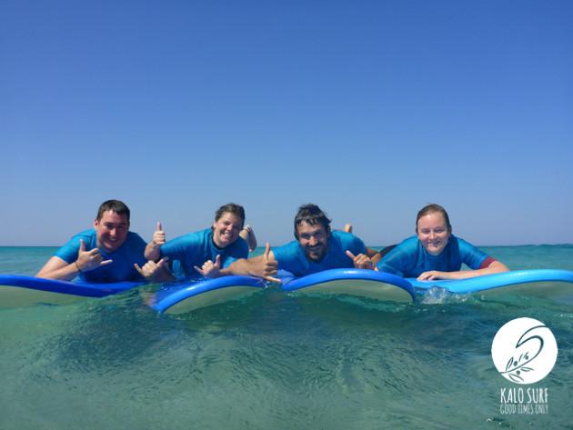 glassy, Wellenreiten, Surfer, Gruppenfoto