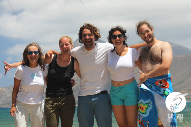 Intermediate group after the surf lesson