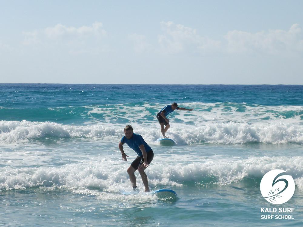 surf lesson, waves in Crete, surfing