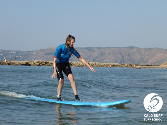 Beginner Surf Lesson in Kissamos