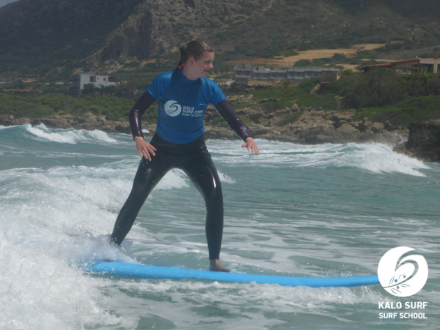 Kalo Surfing at Falassarna beach