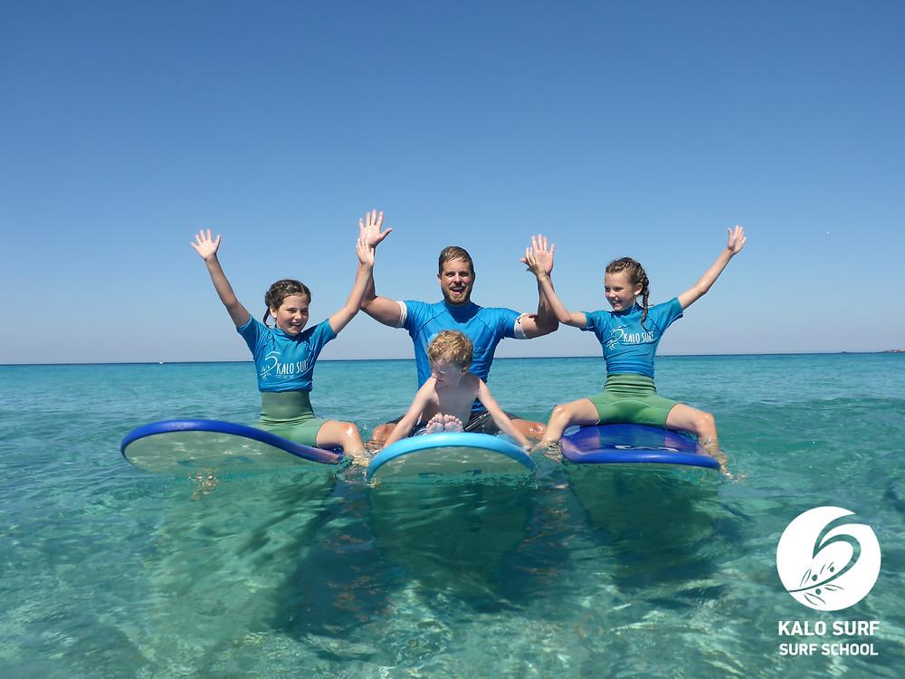 Gruppenbild vom Surfkurs
