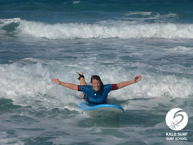 Wellenreiten im Herbst auf Kreta