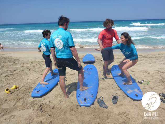 surf course in Falassarna